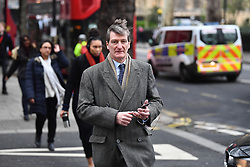 © Licensed to London News Pictures. 12/03/2019. London, UK.  DOMINIC GREIVE MP is seen in Westminster on the day MPs are due to hold a vote on Theresa May's Brexit deal. Parliament is expected to reject the Prime Ministers deal, with suggestions that there could be attempts to remove the PM if there is any delay to Brexit. Photo credit: Ben Cawthra/LNP