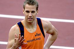 10-08-2006 ATLETIEK: EUROPEES KAMPIOENSSCHAP: GOTHENBORG <br /> Guus Hoogmoed is op de EK atletiek buiten de finale van de 200 meter gebleven. <br /> ©2006-WWW.FOTOHOOGENDOORN.NL