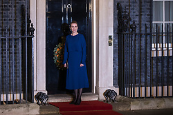 London, UK. 3 December, 2019. Mette Frederiksen, Prime Minister of Denmark, arrives for a reception for NATO leaders at 10 Downing Street on the eve of the military alliance's 70th anniversary summit at a luxury hotel near Watford.