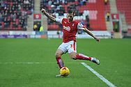 Rotherham United defender (and former Brighton player) Joe Mattock crosses ball during the Sky Bet Championship match between Rotherham United and Charlton Athletic at the New York Stadium, Rotherham, England on 30 January 2016. Photo by Ian Lyall.