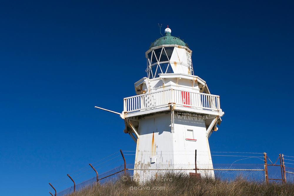 Lighthouse at Waipapa Point, near Invercargill, New Zealand.