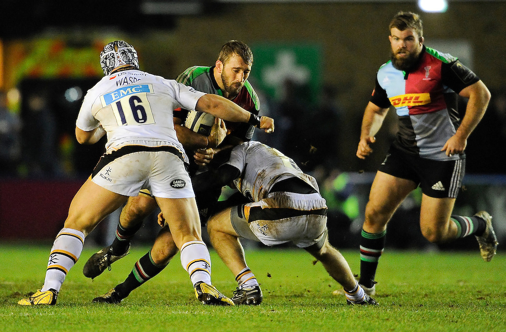 Harlequins' Chris Robshaw in action during todays match<br /> <br /> Photographer Ashley Western/CameraSport<br /> <br /> Rugby Union - European Rugby Champions Cup - Pool 2 - Harlequins v Wasps - Saturday 17th January 2015 - The Stoop - London<br /> <br /> © CameraSport - 43 Linden Ave. Countesthorpe. Leicester. England. LE8 5PG - Tel: +44 (0) 116 277 4147 - admin@camerasport.com - www.camerasport.com