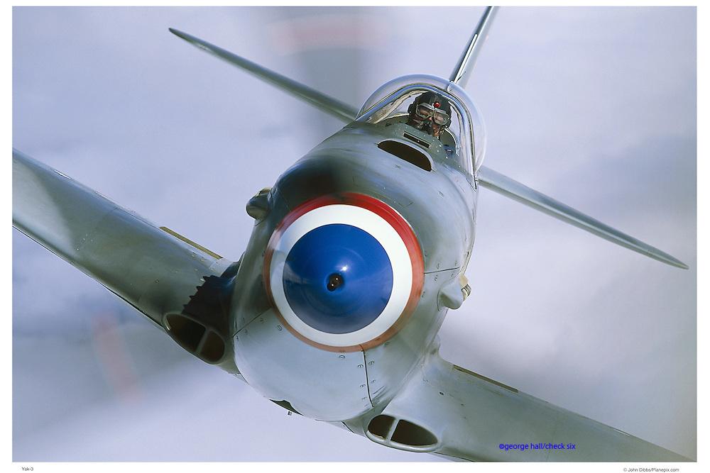 Yak-3, nose on, close up