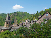 The Sainte-Foy abbey-church in Conques was a popular stop for pilgrims on their way to Santiago de Compostela, in what is now Spain. Its construction was begun on the foundations of a smaller earlier basilica, directed by the abbot Odolric (1031-1065) and completed around the year 1120.