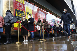 © Licensed to London News Pictures. 19/12/2020. London, UK. Christmas shoppers flock to Oxford Street Debenhams on the last Saturday before Christmas. Photo credit: Peter Macdiarmid/LNP