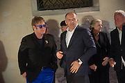 SIR ELTON JOHN;  VICTOR PINCHUK, British artist Lynette Yiadom-Boakye, preview of Pinchuk Foundation's Future Generation Art Prize,     Palazzo Contarini PolignacVenice. Venice Bienalle. Thursday 30 May).