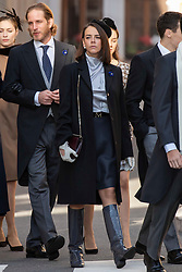 Pauline Ducruet is arriving to the St. Nicholas Cathedral to attend the solemn mass during the National Day ceremonies. Monaco on november 19, 2018. Photo by ABACAPRES.COM