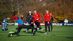 CARDIFF, WALES - Monday, November 12, 2018: Wales' Andy King during a training session at the Vale Resort ahead of the UEFA Nations League Group Stage League B Group 4 match between Wales and Denmark. (Pic by David Rawcliffe/Propaganda)