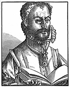 Orlando Lassus (Orlando di Lasso c.1532-1594) Composer and musician from Netherlands. Active in Italy, England and France and produced both sacred and secular works. Ennobled by Maximillian II in 1570. Woodcut.