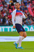 Ben Chilwell of England warms up prior to the UEFA European 2020 Qualifier match between England and Bulgaria at Wembley Stadium, London, England on 7 September 2019.