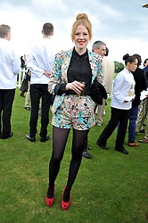 ZOE BOYLE at the Cartier Queen's Cup Polo Final, Guards Polo Club, Windsor Great Park, Berkshire, on 17th June 2012.