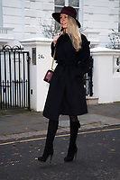 Leila Russack (of Dark Disco project Quattrovalvole) out and about in Chelsea wearing Maison Michel Virginie hat, vintage Gucci tassel boots and Max Mara coat. photo by Terry Scott