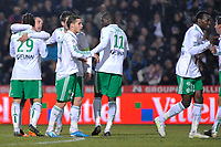 FOOTBALL - FRENCH CHAMPIONSHIP 2010/2011 - L1 - MONTPELLIER HSC v AS SAINT ETIENNE - 05/02/2011 - PHOTO SYLVAIN THOMAS / DPPI - JOY ASSE TEAM AFTER 2ND GOAL