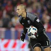 HARRISON, NEW JERSEY- November 06: Evan Bush #1 of Montreal Impact during the New York Red Bulls Vs Montreal Impact MLS playoff match at Red Bull Arena, Harrison, New Jersey on November 06, 2016 in Harrison, New Jersey. (Photo by Tim Clayton/Corbis via Getty Images)