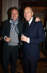Left to right, SIMON MILLS and DYLAN JONES at a party to celebrate the publication of 'Dancing into Waterloo' by Nick Foulkes held at The Westbury Hotel, Conduit Street, London on 14th December 2006.<br /><br />NON EXCLUSIVE - WORLD RIGHTS