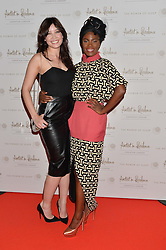 Left to right, DAISY LOWE and SHINGAI SHONIWA at a screening of 2 short films as part of the Corinthia Hotel's Artist in Residence held at The Corinthia Hotel, Northumberland Avenue, London on 12th May 2014.