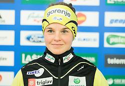 Alenka Cebasek during official presentation of the outfits of the Slovenian Ski Teams before new season 2015/16, on October 6, 2015 in Kulinarika Jezersek, Sora, Slovenia. Photo by Vid Ponikvar / Sportida