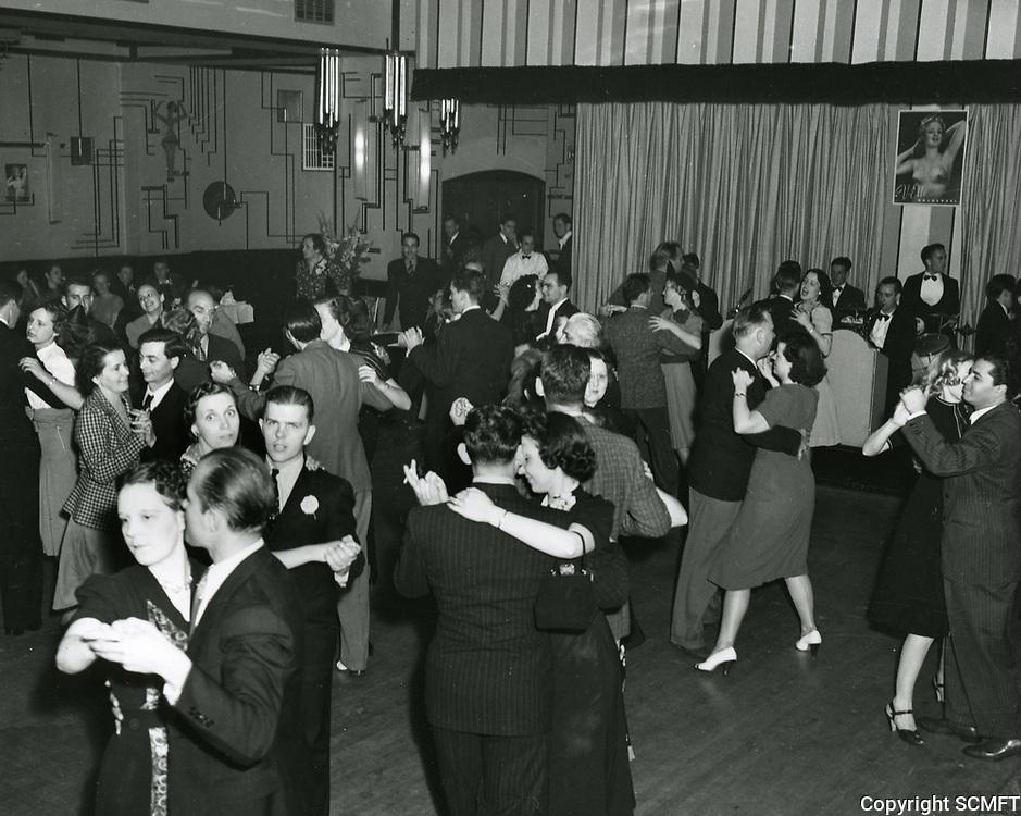 1939 Dancing at Cafe Montmartre on Hollywood Blvd.