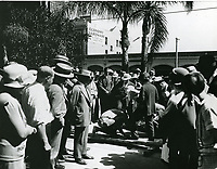 1927 Norma Talmadge's hand and footprint ceremony at the Chinese Theater