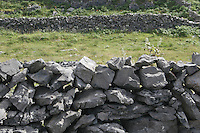 Stone wall on Inis Mor Aran Islands County Galway Ireland