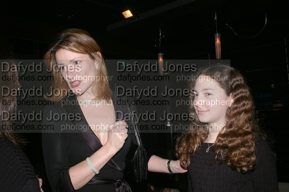 Emma Hall and Lady Hall. Whose Life is it Anyway? opening night performance at Comedy Theatre, Panton Street followed by Party at Mint Leaf. London. 26 January 2005. ONE TIME USE ONLY - DO NOT ARCHIVE  © Copyright Photograph by Dafydd Jones 66 Stockwell Park Rd. London SW9 0DA Tel 020 7733 0108 www.dafjones.com