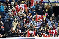 KELOWNA, BC - OCTOBER 25:  Fans wave flags for skaters of Skate Canada International at Prospera Place on October 25, 2019 in Kelowna, Canada. (Photo by Marissa Baecker/Shoot the Breeze)