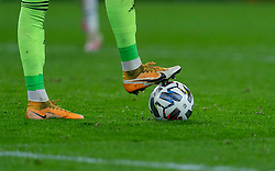 CARDIFF, WALES - Sunday, November 15, 2020: The Nike boots of Wales' goalkeeper Daniel Ward during the UEFA Nations League Group Stage League B Group 4 match between Wales and Republic of Ireland at the Cardiff City Stadium. Wales won 1-0. (Pic by David Rawcliffe/Propaganda)