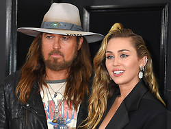 61st Annual Grammy Awards held at Staples Center on February 10, 2019 in Los Angeles, CA. 10 Feb 2019 Pictured: Billy Ray Cyrus and Miley Cyrus. Photo credit: MEGA TheMegaAgency.com +1 888 505 6342