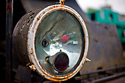 Kościerzyna, 2011-07-06. Reflektor starego wagonu, Muzeum Kolejnictwa w Kościerzynie, dawny Skansen Parowozownia Kościerzyna