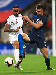 England's Harry Winks (left) and USA's DeAndre Yedlin battle for the ball during the International Friendly at Wembley Stadium, London. PRESS ASSOCIATION Photo. Picture date: Thursday November 15, 2018. See PA story SOCCER England. Photo credit should read: Mike Egerton/PA Wire. RESTRICTIONS: Use subject to FA restrictions. Editorial use only. Commercial use only with prior written consent of the FA. No editing except cropping.