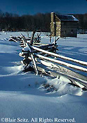 Southwest PA Somerset Historical Center, Rail Fence and Snow , Somerset Co.