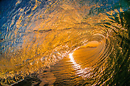 Inside looking out of a tubing wave, Kirra, Queensland, Australia