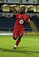Picture: Henry Browne.Digitalsport<br /> Date: 24/08/2004.<br /> Wycombe Wanderers v Bristol City Carling Cup First Round.<br /> <br /> Leroy Lita celebrates after scoring the winning goal for City.
