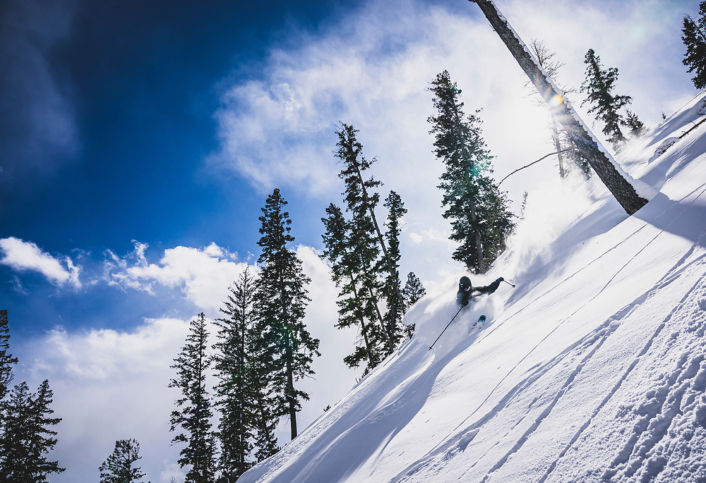 Dean Madley keeping this light, Sleeping Giant Ski Area, Wyoming.