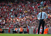 Photo: Tony Oudot.<br /> Arsenal v Bolton Wanderers. The Barclays Premiership. 14/04/2007.<br /> Arsenal manager Arsene Wenger watches from the touchline
