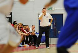 Bristol Academy Flyers head coach, Andreas Kapoulas  - Photo mandatory by-line: Joe Meredith/JMP - Mobile: 07966 386802 - 27/09/2014 - SPORT - Basketball - Bristol - SGS Wise Campus - Bristol Academy Flyers v Plymouth Uni Raiders - British Basketball League