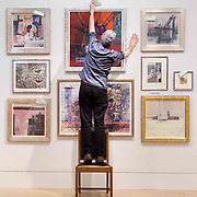 """FREE PICTURES :   Royal Scottish Society of Painters in Watercolour, annual exhibition opens on December 29th 2019 at the RSA on Princes St, Edinburgh.<br /> <br /> Some of Scotland's top artists are among those getting ready to unveil their work in an exhibition which opens its doors just in time for Hogmanay.<br /> <br /> The 139th Open Annual Exhibition of the Royal Scottish Society of Painters in Watercolour opens in Lower Galleries of the RSA Building on Princes Street, Edinburgh on Monday 30 December.<br /> <br /> The show features 234 paintings by over 100 artists chosen by the RSW's selection panel after a broad range of work was submitted, both by RSW members and by artists taking part in the open submission.<br /> <br /> Artist Jim Dunbar, president of the RSW, said: """"I think it's a fantastic exhibition this year, both in the range of work members have submitted and the work that came in under open submission. It's a diverse range of work which makes for an interesting, dynamic exhibition.""""<br /> <br /> Picture Robert Perry 27th Dec 2019<br /> <br /> Please credit photo to Robert Perry<br /> <br /> Image is free to use in connection with the promotion of the above company or organisation. 'Permissions for ALL other uses need to be sought and payment make be required.<br /> <br /> <br /> Note to Editors:  This image is free to be used editorially in the promotion of the above company or organisation.  Without prejudice ALL other licences without prior consent will be deemed a breach of copyright under the 1988. Copyright Design and Patents Act  and will be subject to payment or legal action, where appropriate.<br /> www.robertperry.co.uk<br /> NB -This image is not to be distributed without the prior consent of the copyright holder.<br /> in using this image you agree to abide by terms and conditions as stated in this caption.<br /> All monies payable to Robert Perry<br /> <br /> (PLEASE DO NOT REMOVE THIS CAPTION)<br /> This image is intended for Editorial"""