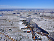 Nederland, Noord-Holland, Gemeente Waterland, 13-02-2021; winterlandschap, Holysloot aan de Holysloter Die.<br /> Winter landscape, Holysloot en Holysloter Die.<br /> <br /> luchtfoto (toeslag op standaard tarieven);<br /> aerial photo (additional fee required)<br /> copyright © 2021 foto/photo Siebe Swart