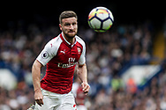 Shkodran Mustafi of Arsenal in action. Premier league match, Chelsea v Arsenal at Stamford Bridge in London on Sunday 17th September 2017.<br /> pic by Kieran Clarke, Andrew Orchard sports photography.
