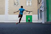 Soccer in the schoolyard. Bay Ridge, Brooklyn, NY | May 2017