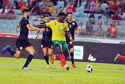 October 12, 2019, Rades, Tunis: Ferjani sassi (L)of Tunisia and Ntep Paul (14) of Cameroon during the Tunisia vs Cameroon friendly match at Rades Olympic Stadium. (Credit Image: RealTime Images)
