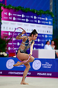 Agiurgiuculese Alexandra is an Italian individualistic gymnast, of Romanian origins, of the Italian national rhythmic gymnastics. His team in Italy is AS Udinese coached by Spela Dragas.<br />