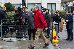 London, UK. 16 November, 2019. Neil Coyle, Labour candidate for Bermondsey and Old Southwark, arrives at the party's Clause V meeting. The Clause V meeting, chaired by the party leader and attended by members of the National Executive Committee (NEC), relevant Shadow Cabinet members and members of the National Policy Forum, will finalise the party's general election manifesto. The meeting is named after Clause V of the Labour Party rulebook. Credit: Mark Kerrison/Alamy Live News