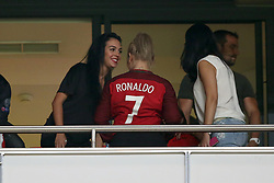 October 10, 2017 - Lisbon, Portugal - Portugal's forward Cristiano Ronaldo girlfriend Georgina Rodriguez (L) during the 2018 FIFA World Cup qualifying football match between Portugal and Switzerland at the Luz stadium in Lisbon, Portugal on October 10, 2017. Photo: Pedro Fiuza  (Credit Image: © Pedro Fiuza/NurPhoto via ZUMA Press)