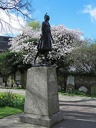 © Licensed to London News Pictures. 21/03/2017. London, UK. The Pocahontas statue in Gravesend. Gravesend commemorates the death and burial of Pocahontas in the town 400 years ago today - a parade commenced at St Andrew's Gardens by the side of the river Thames where she would have come to shore on this day 400 years ago having been taken ill on board a ship sailing out of London. Water brought across from Jamestown was poured into the Thames watched by civic dignitaries and native American chiefs at the waters edge. Photo credit: Graham Long/LNP