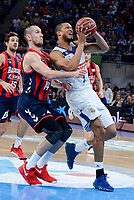 Baskonia's Kim Tillie and Real Madrid's Anthony Randolph during Semi Finals match of 2017 King's Cup at Fernando Buesa Arena in Vitoria, Spain. February 18, 2017. (ALTERPHOTOS/BorjaB.Hojas)