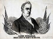 President James Buchanan 1856. Democratic candidate for President. Baker & Godwin