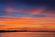 Sky at sunset at Cow Head<br /> Gros Morne National Park<br /> Newfoundland & Labrador<br /> Canada