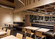 "Lainate, Autogrill Villoresi.   Villoresi Est complies with the energy efficiency and <br /> environmental impact guidelines established in the LEED standards<br /> <br /> <br /> The project was designed by studio Total Tool's Giulio Ceppi and implemented in cooperation with Starching and Geoenergia. <br /> ICMQ has  been the LEED consultant of the project during in the  design phase as well as the construction phase. <br /> The new Autogrill resembles a volcano, gradually rising above the surrounding countryside until it reaches a height of 27.5 meters. Villoresi Est is made of eco-friendly, recyclable building materials, and the entire skeleton of the approximately 2,500 m2 building is constructed of PEFC-certified glued laminate timber from sustainable forests. The building is constructed of eco-friendly, recyclable materials. From its paved asphalt to its imposing roof, this one-of-a-kind structure is a visual stand-out, its fluid design calling to mind the experience of ""rest in motion"" typically enjoyed by travelers passing through these parts."