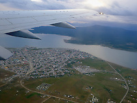Aerial View of Puerto Natales. Snapshot taken with a Leica D-Lux 5 camera (ISO 80, 7.5 mm, f/2.5, 1/100 sec).